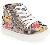 Steve Madden Toddler Girl's 'Tcobrah' Emoji High Top Sneaker