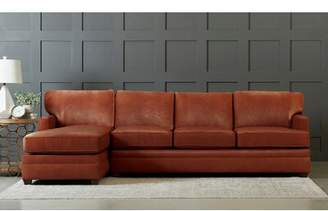 "Durango Wayfair Custom Upholsteryâ""¢ Leather Symmetrical Sectional Wayfair Custom Upholsterya Body Fabric Espresso, Sectional Orientation: Left Hand Facing"