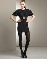 Empire-Waist Silk Dress