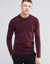 Brave Soul Long Sleeve Polo Shirt