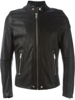 Diesel zip leather jacket - men - Lamb Skin/Polyester - M