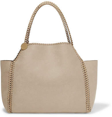 Stella McCartney The Falabella Medium Reversible Faux Brushed-leather Tote - Off-white