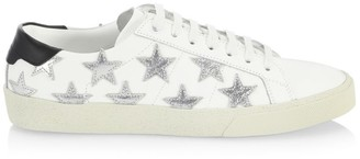 Saint Laurent Star Lace-Up Leather Sneakers
