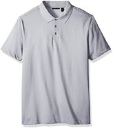Perry Ellis Men's Big and Tall Two Button Birdseye Texture Polo