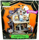 Lemax 05004 HAUNTED CABIN SPOOKY TOWN Halloween Building Decor Retired Limited