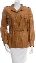 Dries Van Noten Belted Leather Jacket