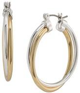 Lauren Ralph Lauren Two-Tone Hoop Earrings