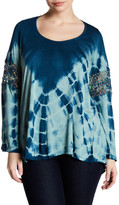 Jessica Simpson Tie Die Scoop Neck Blouse (Plus Size)