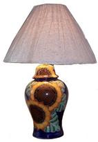 Fine Crafts & Imports Sunflower Talavera Ceramic Lamp
