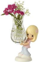 "Precious Moments Love You Lots"" Vase Girl Figurine"