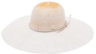 Maison Michel Blanche Straw Hat - White Multi