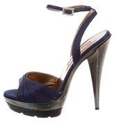 Oscar de la Renta Multistrap Platform Sandals