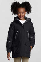 Lands' End Girls Squall Parka-Red
