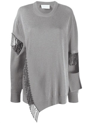 Christopher Kane Cut-Out Cup Chain Jumper