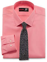 Jf J.Ferrar Slim Fit Dress Shirt + Tie Set