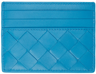 Bottega Veneta Blue Intrecciato Card Holder