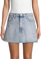Hudson Jeans Vivid Distressed Denim Mini Skirt