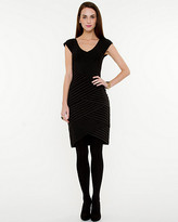 Le Château Spliced Stripe Fitted Dress