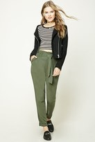 Forever 21 FOREVER 21+ High-Waisted Belted Trousers