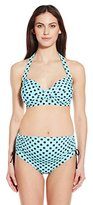 Prego Maternity Women's Maternity Polka Dot Pin Up Bikini