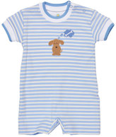 Florence Eiseman Striped Jersey Dog Shortall, Blue, Size 3-18 Months