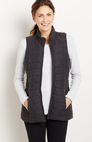 J. Jill Fireside Brushed-Flannel Puffer Vest