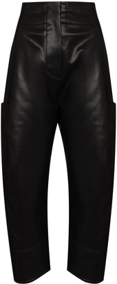 LVIR Faux Leather Tapered Trousers