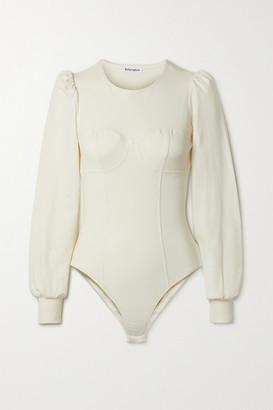 Reformation Emery Stretch-organic Cotton Jersey Bodysuit - Off-white
