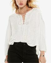 Denim & Supply Ralph Lauren Lace-Bib Jersey Top