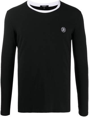 Balmain embroidered logo long-sleeve T-shirt