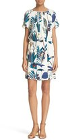 Tory Burch 'Anatolie' Botanical Print A-Line Silk Dress