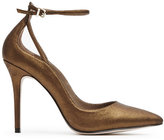 Reiss Leighton Metallic Ankle-Strap Shoes