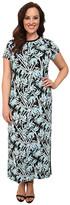 MICHAEL Michael Kors Size Bamboo Crew Neck Maxi Dress