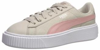 Puma Women's Platform Sneaker Silver Gray White 10 M US