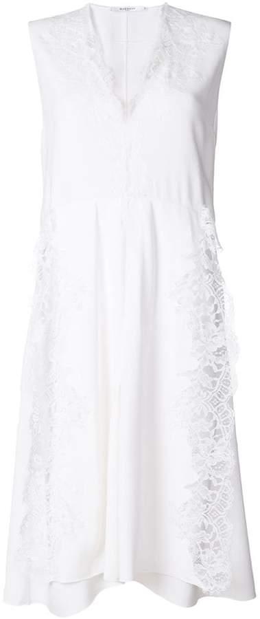 Givenchy sleeveless lace trim midi dress