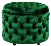 Small Emerald Emma Storage Ottoman