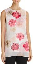 Calvin Klein Sleeveless Floral Print Top