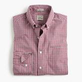 J.Crew Secret Wash shirt in faded burgundy check