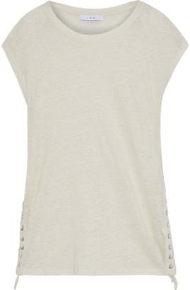 IRO Avys Lace-up Slub Linen-jersey Top