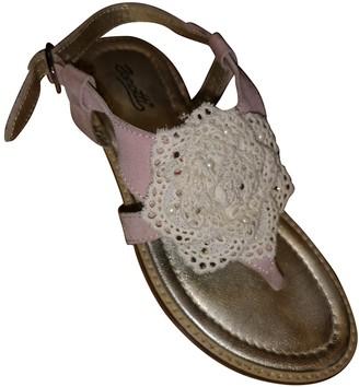 Giuseppe Zanotti Pink Suede Sandals