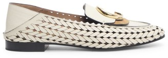 Chloé C Woven Leather Loafers