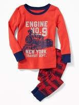 "Old Navy ""Engine No.9"" Train Sleep Set for Toddler & Baby"