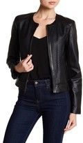 Cole Haan Woven Leather Jacket