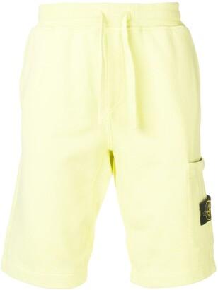 Stone Island logo patch track shorts