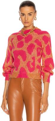 Stella McCartney Big Leopard Sweater in Amber | FWRD