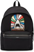 Saint Laurent Black 'Sweet Dreams' Shark Backpack