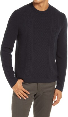 Vince Cable Knit Crewneck Wool & Cashmere Sweater
