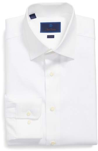 David Donahue Men's Trim Fit Dress Shirt