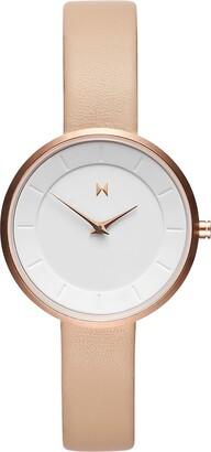MVMT Womens Analogue Quartz Watch with Leather Calfskin Strap D-FB01-RGNU