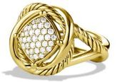 David Yurman Infinity Ring With Diamonds In 18K Gold